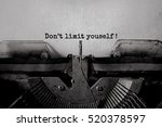 don't limit youself   typed... | Shutterstock . vector #520378597