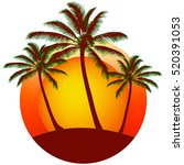Print From Palms Silhouettes A...