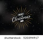 merry christmas text design.... | Shutterstock . vector #520394917