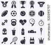 sports icon collection | Shutterstock . vector #520395757