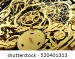 gold mechanism  clockwork with... | Shutterstock . vector #520401313
