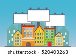 big three blank urban billboard ... | Shutterstock .eps vector #520403263