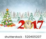 new year and merry christmas... | Shutterstock .eps vector #520405207