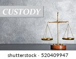 scales of justice on table.... | Shutterstock . vector #520409947