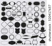 badge set design clean vector | Shutterstock .eps vector #520417657