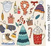 seamless pattern merry... | Shutterstock .eps vector #520419367