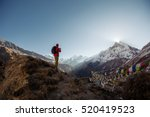 tourist man watching and taking ... | Shutterstock . vector #520419523