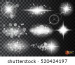 silver glitter bokeh lights and ... | Shutterstock .eps vector #520424197