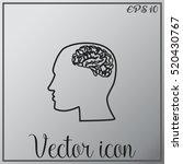 brain in haed icon | Shutterstock .eps vector #520430767