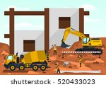construction site. employees... | Shutterstock .eps vector #520433023