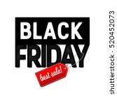 black friday sale design... | Shutterstock .eps vector #520452073