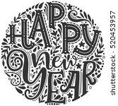 happy new year. hand drawn...   Shutterstock . vector #520453957