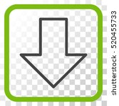 arrow down eco green and gray... | Shutterstock .eps vector #520455733