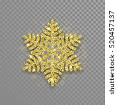Snowflake Of Golden Glitter...