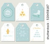 hello winter. collection... | Shutterstock .eps vector #520458187