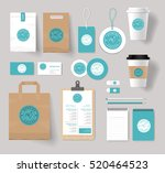 corporate branding identity... | Shutterstock .eps vector #520464523