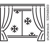 snow window icon | Shutterstock .eps vector #520468603