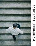 top view of urban athlete... | Shutterstock . vector #520468633