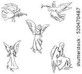angels. pencil sketch by hand | Shutterstock .eps vector #520470487