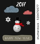 merry christmas and happy new... | Shutterstock .eps vector #520470577