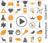play button web icon | Shutterstock .eps vector #520473997