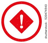 error rhombus rubber seal stamp ... | Shutterstock .eps vector #520474543