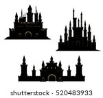 vector set with hand drawn... | Shutterstock .eps vector #520483933