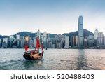 tourist sailboat crosses... | Shutterstock . vector #520488403