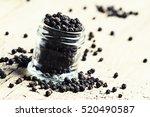 Black Pepper  Old Wooden...