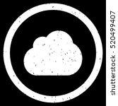 cloud rubber seal stamp... | Shutterstock .eps vector #520499407