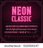 bright neon alphabet letters