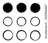 dirty circles | Shutterstock .eps vector #520506487