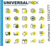 set of 25 universal editable... | Shutterstock .eps vector #520513777