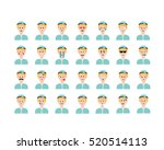 set of doctors emoticon vector... | Shutterstock .eps vector #520514113