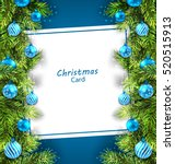 illustration christmas card... | Shutterstock .eps vector #520515913