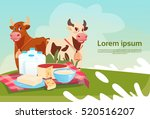 cows fresh milk dairy products... | Shutterstock .eps vector #520516207