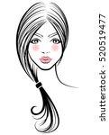 illustration of women ponytail...   Shutterstock .eps vector #520519477