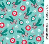christmas seamless pattern with ... | Shutterstock .eps vector #520532473