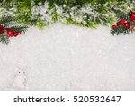 christmas greeting card.... | Shutterstock . vector #520532647