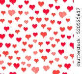 painted hearts seamless pattern.... | Shutterstock .eps vector #520535617