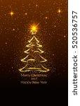 vector illustration of merry... | Shutterstock .eps vector #520536757