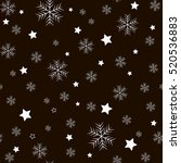 snowflake simple and star... | Shutterstock .eps vector #520536883