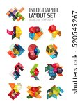 paper infographic elements for... | Shutterstock .eps vector #520549267