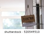 you are welcome words on wooden ... | Shutterstock . vector #520549513