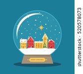 Christmas Star Snow Globe Flat...