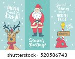 set of winter hand drawn... | Shutterstock .eps vector #520586743