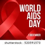 realistic red ribbon  world... | Shutterstock .eps vector #520591573