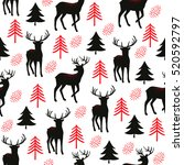 christmas seamless pattern with ... | Shutterstock .eps vector #520592797