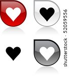 love glossy drop vibrant...   Shutterstock .eps vector #52059556