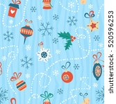 christmas toys and other...   Shutterstock .eps vector #520596253